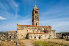 Basilica Holy Trinity of Saccargia. Stock Image