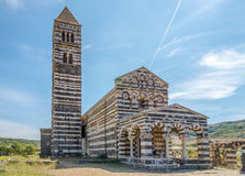 Basilica Holy Trinity of Saccargia. Royalty Free Stock Photo
