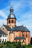 Basilica i Seligenstadt royaltyfri foto