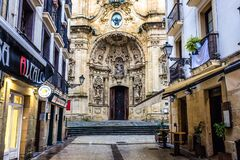 Free Basilica In San Sebastian Royalty Free Stock Image - 185575976