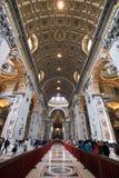 basilica inom den peter s sainten Arkivbild