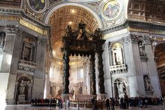 basilica inom peter s st Royaltyfri Fotografi