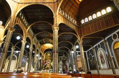 Basilica interior in Cartago, Costa Rica Royalty Free Stock Photography