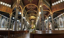 Basilica interior in Cartago, Costa Rica Stock Image
