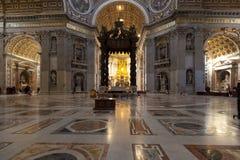 Basilica interna della st Peters Immagine Stock Libera da Diritti