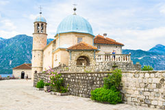 The basilica on the islet Royalty Free Stock Photo