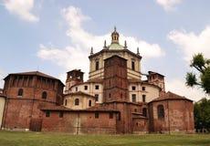 basilica italy lorenzo milan san Royaltyfri Bild