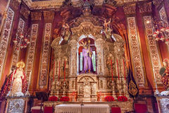 Basilica Jesus Mary Statues Church El Salvador Seville Spain Stock Image