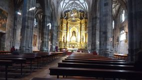 Basilica la Begonya Bilbao Spain. Bilbao Spain is on the ancient pilgrimage route to San Diago de Compostella. This church is on a hilltop high over the town of Royalty Free Stock Photography