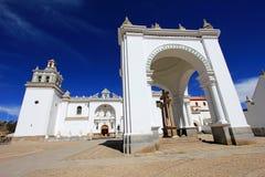 Basilica la nostra signora di Copacabana, Bolivia Fotografia Stock