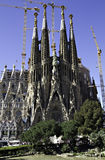 Basilica La Sagrada Familia, Barcelona. Facade of Basilica La Sagrada Familia, Barcelona, Spain Royalty Free Stock Photo