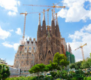 Basilica of La Sagrada Familia stock photo