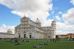 Basilica and the leaning tower of Pisa Stock Photo