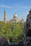 Basilica in Lichen Stary. Basilica of Our Lady of Sorrows, Queen of Poland in Lichen Stary Stock Images