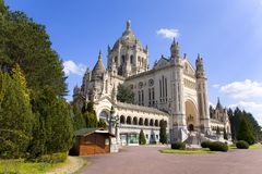 Basilica of Lisieux (Normandy, France) Stock Photo