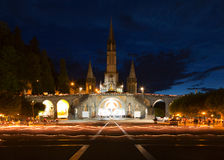 Basilica Lourdes Stock Images