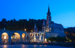 Basilica Lourdes Stock Photo