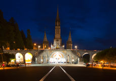 Basilica Lourdes Royalty Free Stock Photo