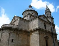Basilica of Madonna di San Biagio in Montepulciano, Tuscany, Italy royalty free stock photos