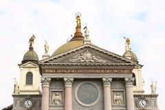 Basilica of Maria Ausiliatrice. Facade of the Basilica of Maria Ausiliatrice, Turin, Italy stock photos