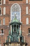 Basilica Mariacki, chiesa gotica di stile, quadrato principale del mercato, Cracovia, Polonia di StMary Fotografia Stock Libera da Diritti