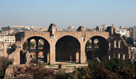 Basilica of Maxentius and Constantine Stock Photos