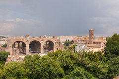 Basilica of Maxentius and Constantine Stock Photography