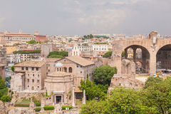 Basilica of Maxentius and Constantine Stock Images