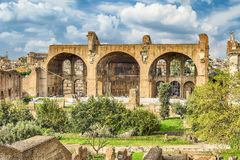 Basilica of Maxentius and Constantine, Roman Forum in Rome, Ital Royalty Free Stock Photos