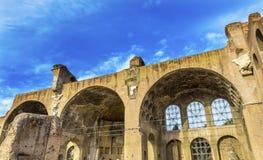 Basilica Maxentius Constantine Roman Forum Rome Italy. Basilica of Maxentius and Constantine Roman Forum Rome Italy.  Basilica created 308 by Maxentius, finished Royalty Free Stock Photos