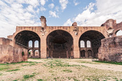 The Basilica of Maxentius and Constantine in Rome Stock Photography