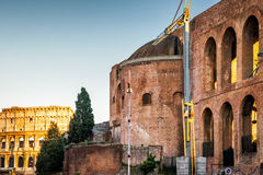 Basilica of Maxentius and Constantine, Rome Royalty Free Stock Image