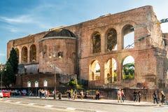 Basilica of Maxentius and Constantine, Rome Stock Photos