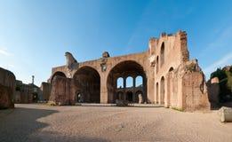 Basilica of Maxentius-Constatine Stock Photo