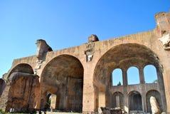 Basilica of Maxentius in the Roman forum Stock Photo
