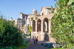 Basilica of Maxentius Royalty Free Stock Photo