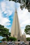 basilica Menor de诺萨Senhora da Glóриа, Maringa,巴西 免版税图库摄影