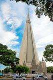 Basilica Menor de Nossa Senhora DA Gló???, Maringa, Brésil Photographie stock libre de droits