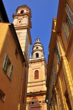 Basilica at Menton in France Stock Image