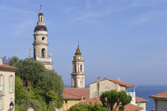 Basilica at Menton in France Royalty Free Stock Photography