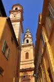 Basilica a Menton in Francia Immagine Stock