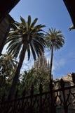 Basilica metropolitana della cattedrale di Barcellona Fotografie Stock