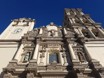 Basilica in Monterrey. A photo of the Basilica de Monterrey with a perfectly blue sky Royalty Free Stock Image