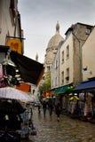Basilica and Montmarte, Paris. Royalty Free Stock Image