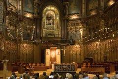 Basilica of Montserrat. Basilica in monastery Montserrat. Catalonia. Spain stock photos