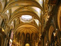 Basilica of Montserrat royalty free stock images