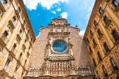 Basilica at Montserrat. Benedictine Basilica at Montserrat Atrium royalty free stock photo