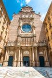 Basilica at Montserrat. Gothic Basilica at Montserrat Atrium stock photos