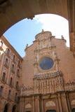 Basilica at Montserrat Monastery near Barcelona Stock Photos