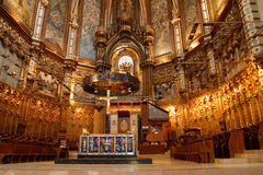 Basilica at the Montserrat Monastery, Spain stock images